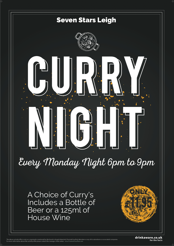 Curry Night Flyer (chalk) (A5)