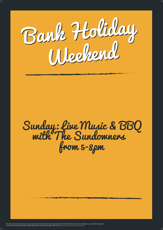 Bank Holiday Weekend Poster (GreyYellow) (A4)